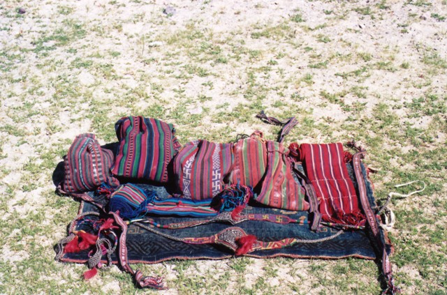 Changthang weavings including panniers, sashes, boot ties and slingsChangthang weavings including panniers, sashes, boot ties and slings